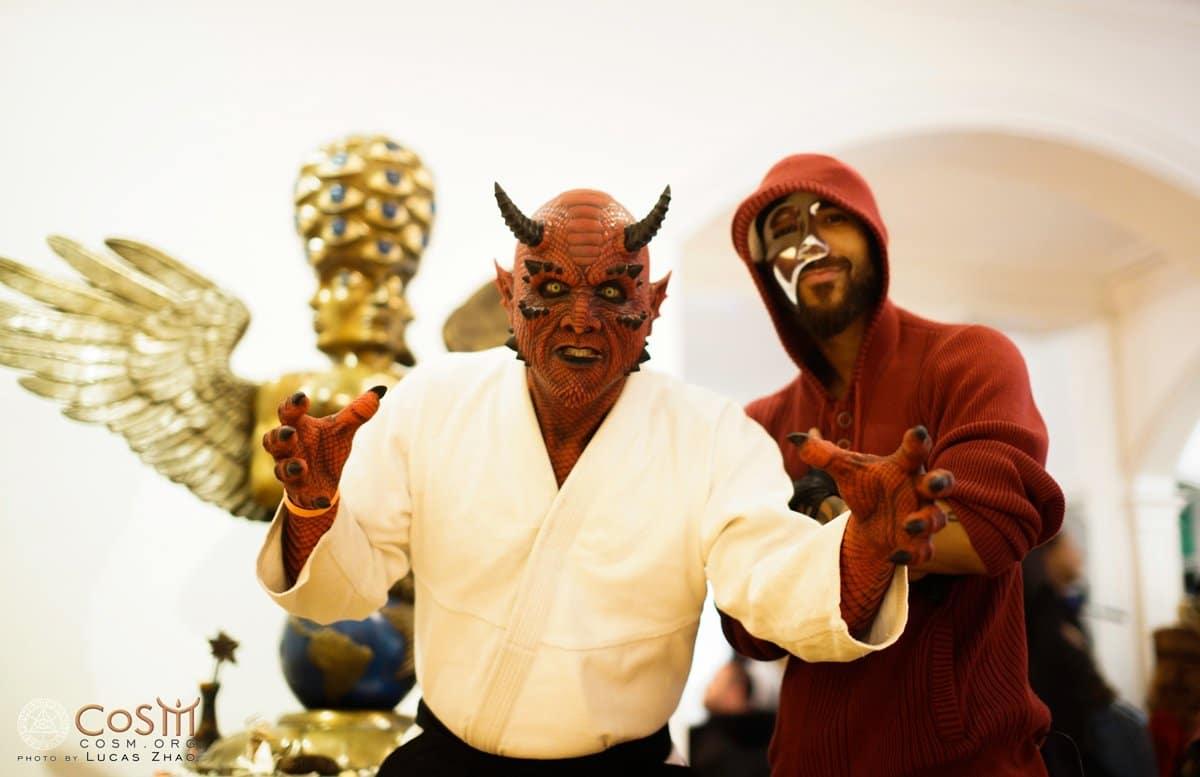 Japanese Demon Poses with Half Masked Tariq Sabur